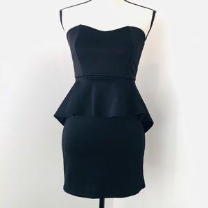 Little Black Peplum Dress